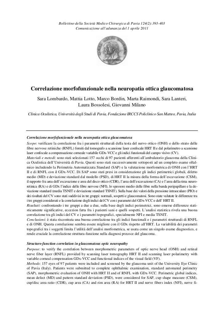 Bollettino della Società Medico Chirurgica di Pavia 124(2):393-403                                   Comunicazione all'adu...
