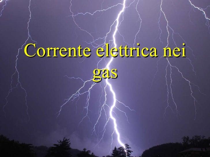 Corrente elettrica nei gas