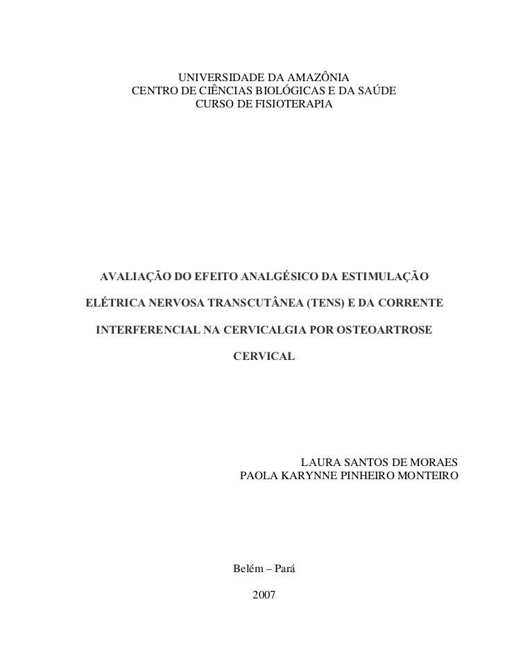 UNIVERSIDADE DA AMAZÔNIA      CENTRO DE CIÊNCIAS BIOLÓGICAS E DA SAÚDE               CURSO DE FISIOTERAPIA  AVALIAÇÃO DO E...