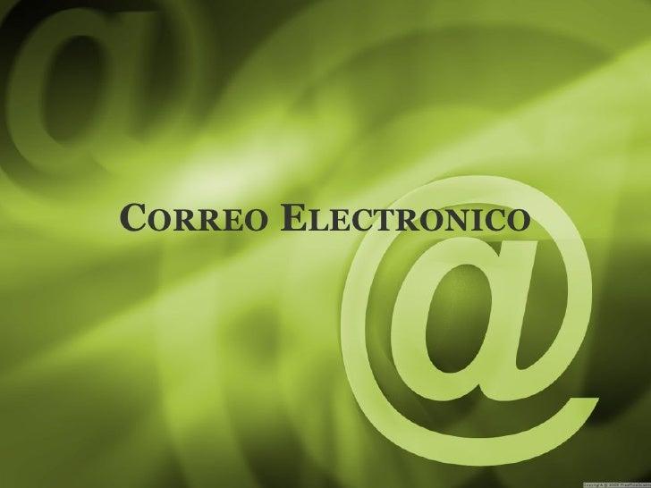 C ORREO  E LECTRONICO
