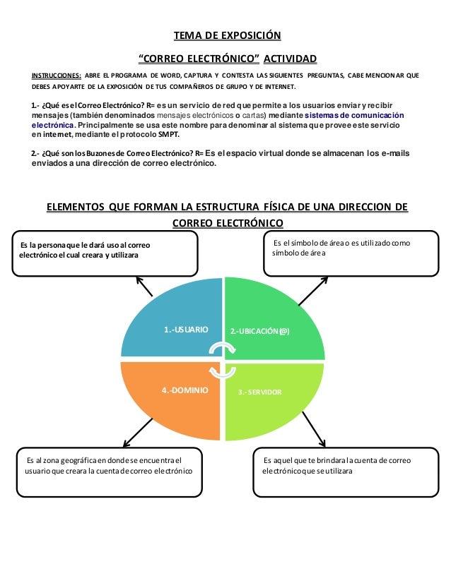 """TEMA DE EXPOSICIÓN  """"CORREO ELECTRÓNICO"""" ACTIVIDAD  INSTRUCCIONES: ABRE EL PROGRAMA DE WORD, CAPTURA Y CONTESTA LAS SIGUIE..."""