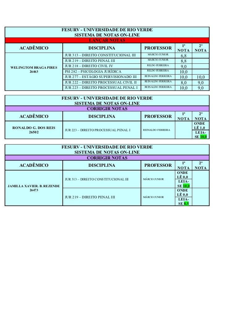 Correção notas    2011 02 direito nerópolis - fesurv