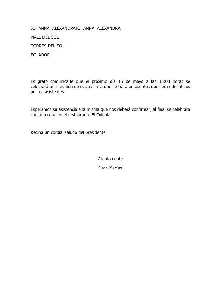 JOHANNA ALEXANDRAJOHANNA ALEXANDRAMALL DEL SOLTORRES DEL SOLECUADOREs grato comunicarle que el próximo día 15 de mayo a la...