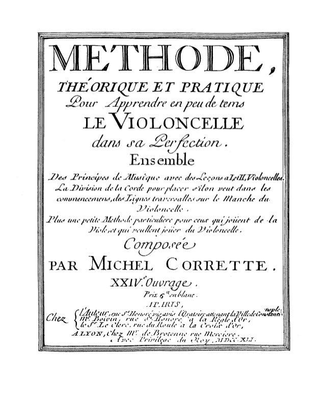 Corrette methode pour_le_violoncelle