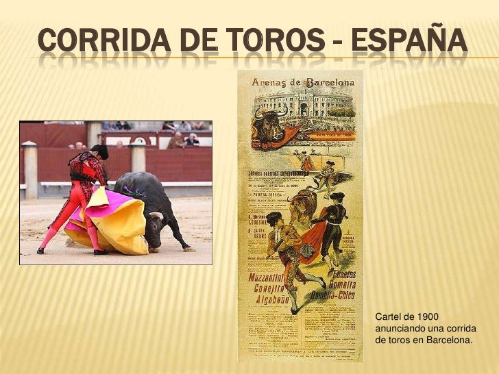 Corrida de toros - españa<br />Cartel de 1900 anunciando una corrida de toros en Barcelona.<br />