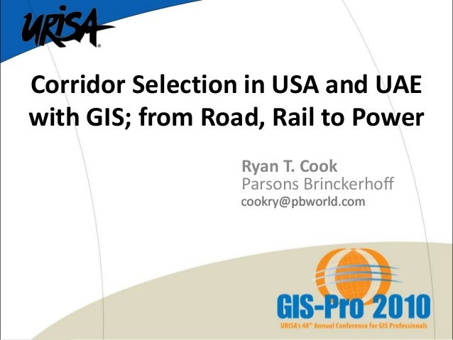 Corridor Selection in USA and UAE with GIS