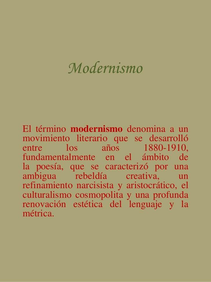 Corriente literaria modernismo