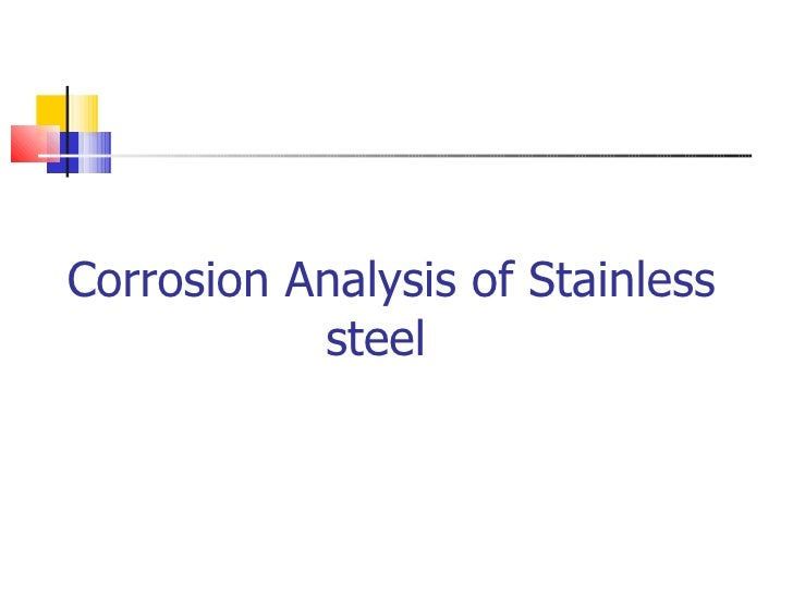 Corrosion Analysis of Stainless   steel