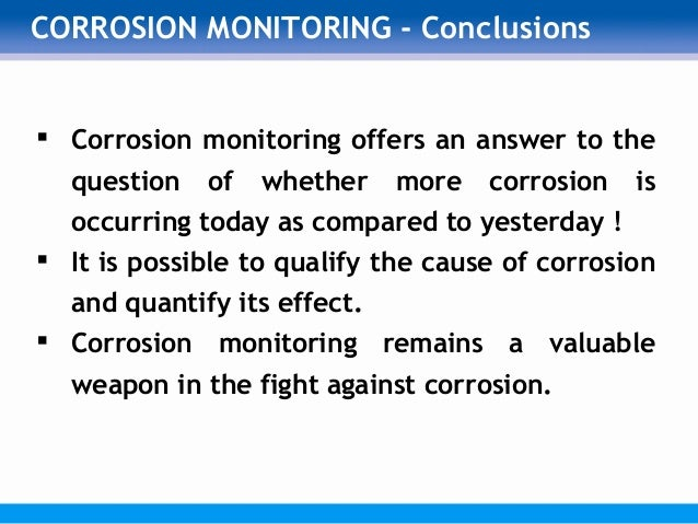 Corrosion coupons pipeline