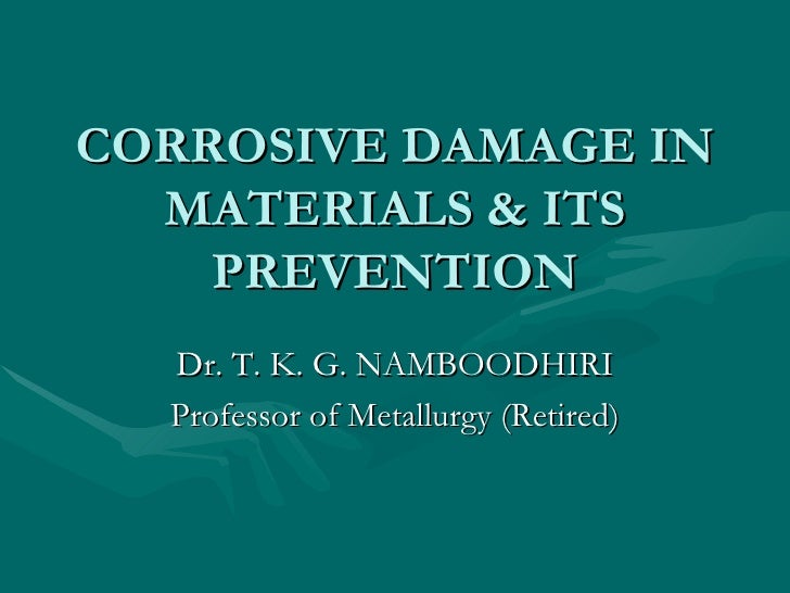 Corrosive Damage In Metals & Its Prevention