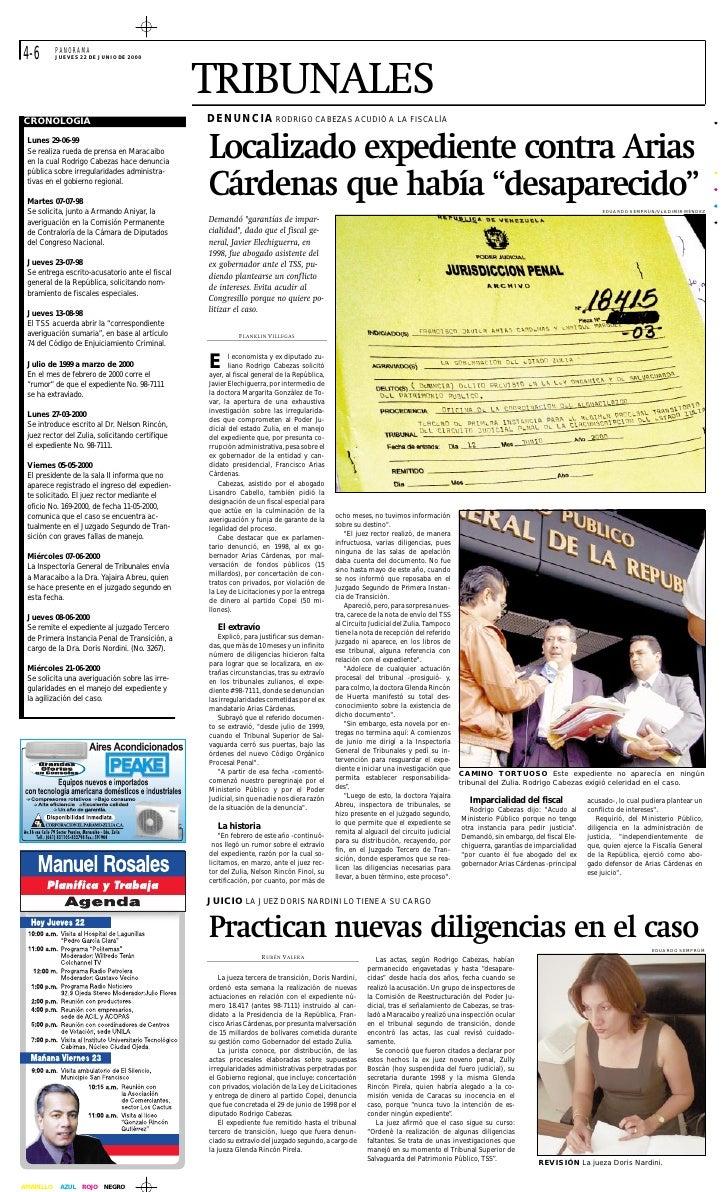 LA CORRUPCION DE ARIAS: Noticias Diario Panorama
