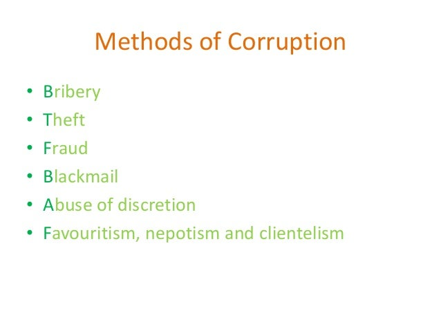 corruption and nepotism in india Some rules are old and complex tha cannot be followed in indian scenerio  in  competitive exam the corruption is going on nepotism is going on it should be.