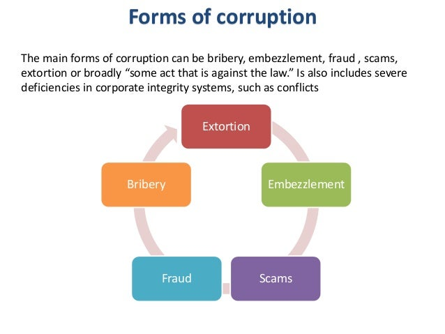 bribery and corruption police corruption Free essay: corruption and bribery april 29, 2015 abstract in this paper, i will be writing about corruption and bribery i will define the terms and go on.
