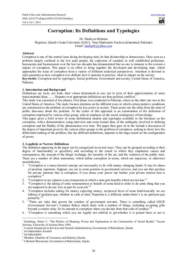 Public Policy and Administration Research www.iiste.org ISSN 2224-5731(Paper) ISSN 2225-0972(Online) Vol.4, No.7, 2014 56 ...