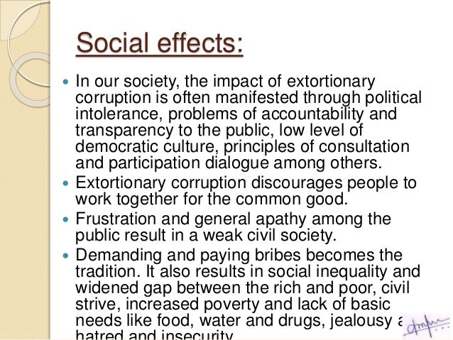 Corruption And Society Essay