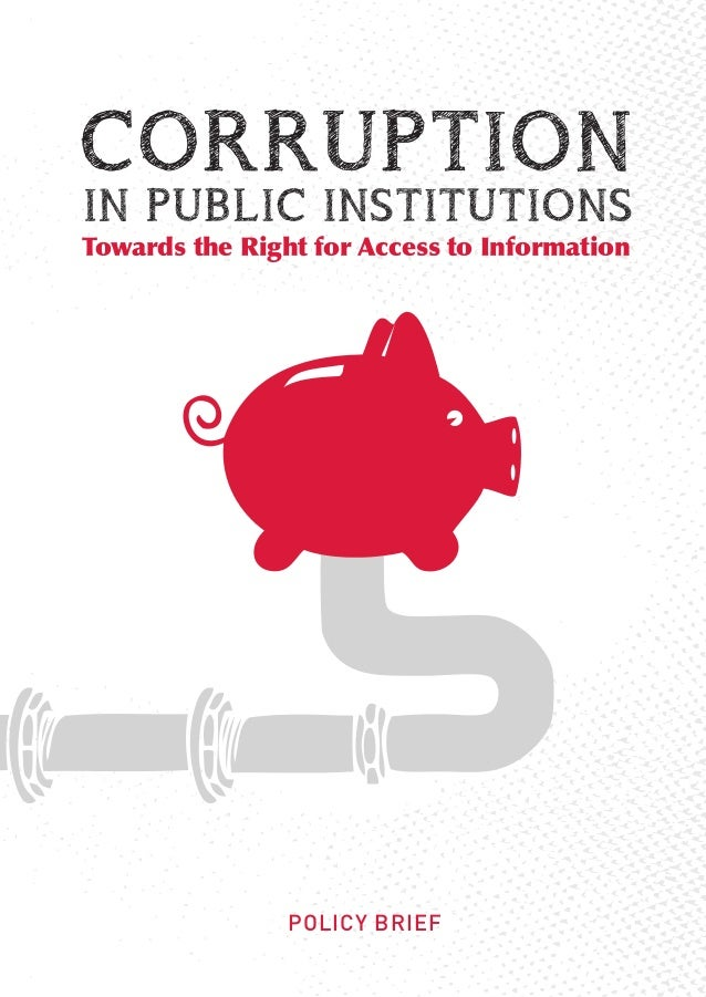 Towards the Right for Access to Information                POLICY BRIEF