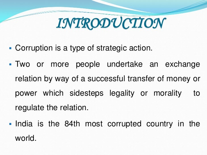 an introduction to the issue of corruption by power Managing bribery and corruptions risks in the construction and infrastructure issue of corruption in the construction and infrastructure industry 9.