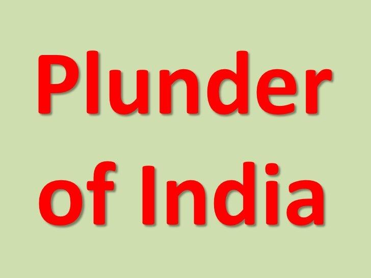 Plunderof India