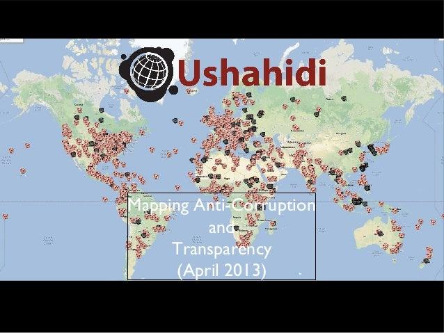 Anti-Corruption Mapping (April 2013, part 1)