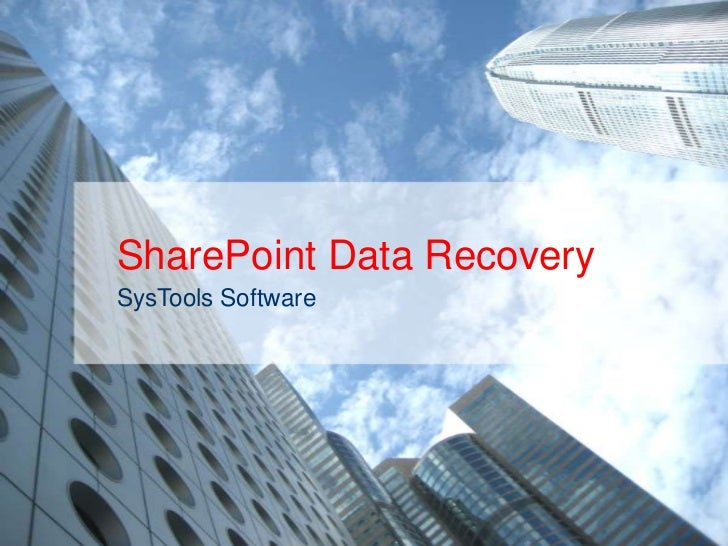 Corrupt share point database recovery software