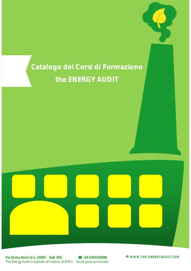 Catalogo corsi di formazione The Energy Audit 2014
