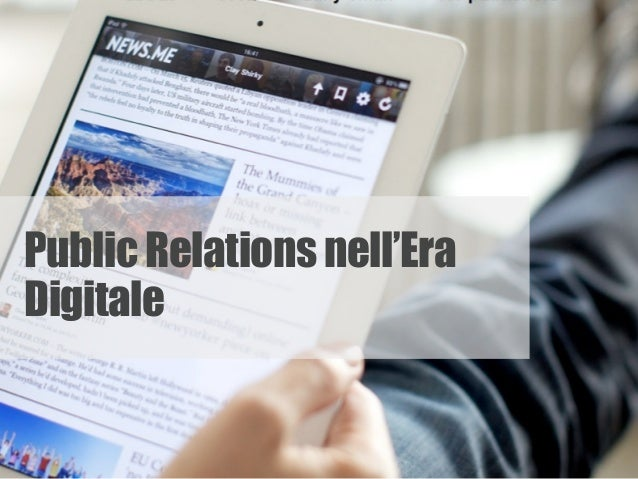 Public Relations nell'Era Digitale