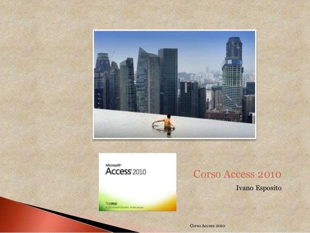 Corso access 2010