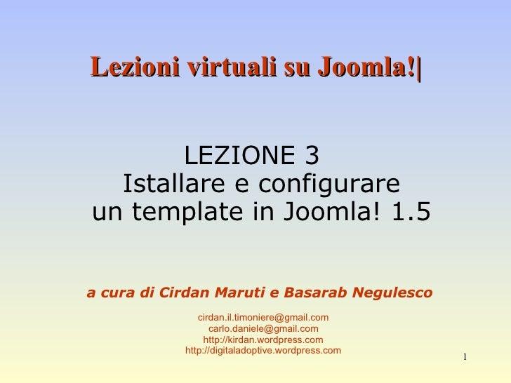 Corso Base Joomla Lezione 3