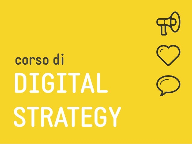 DIGITAL STRATEGY corso di