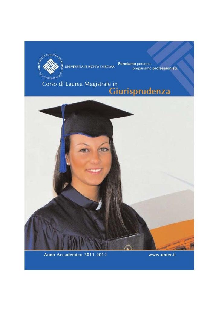 Formiamo persone,                                       prepariamo professionisti.Corso di Laurea Magistrale in           ...