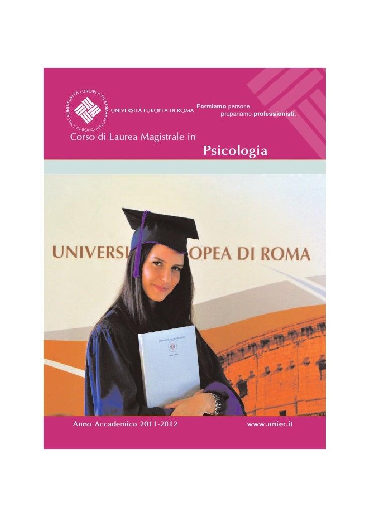 Corso di laurea magistrale in psicologia for Laurea magistrale design