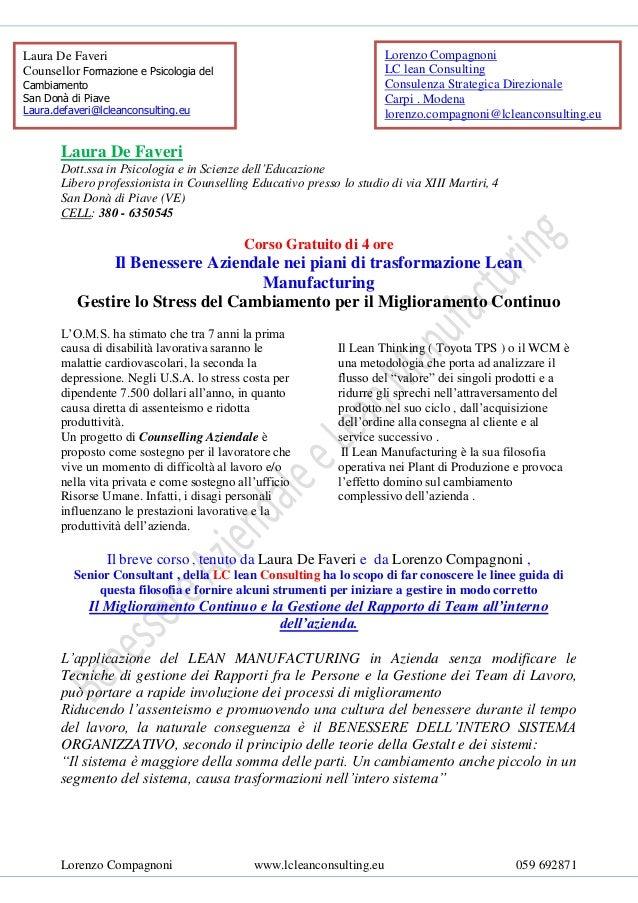 Laura De Faveri                                                        Lorenzo CompagnoniCounsellor Formazione e Psicologi...
