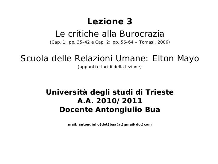 Corso oa   lezione 3 - critiche