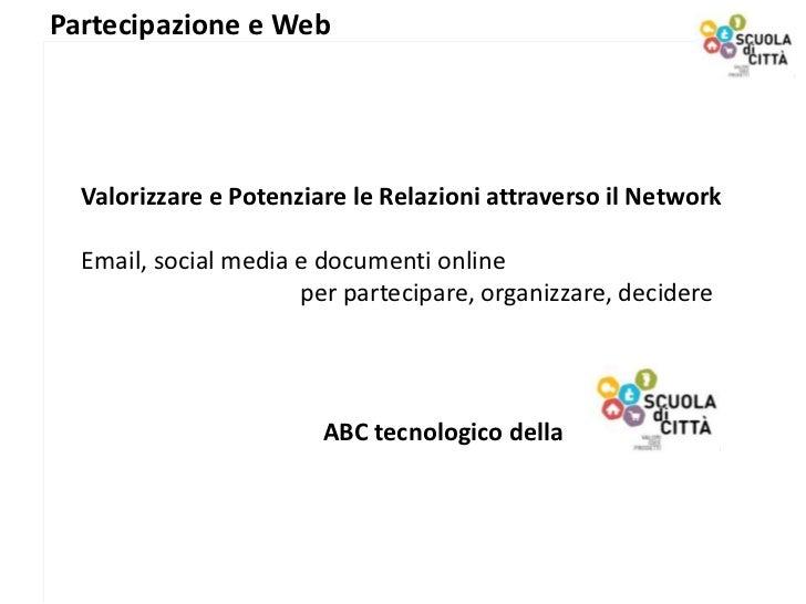 Corso Partecipazione e Web