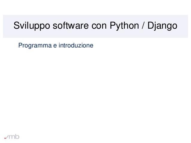 Corso Python Django