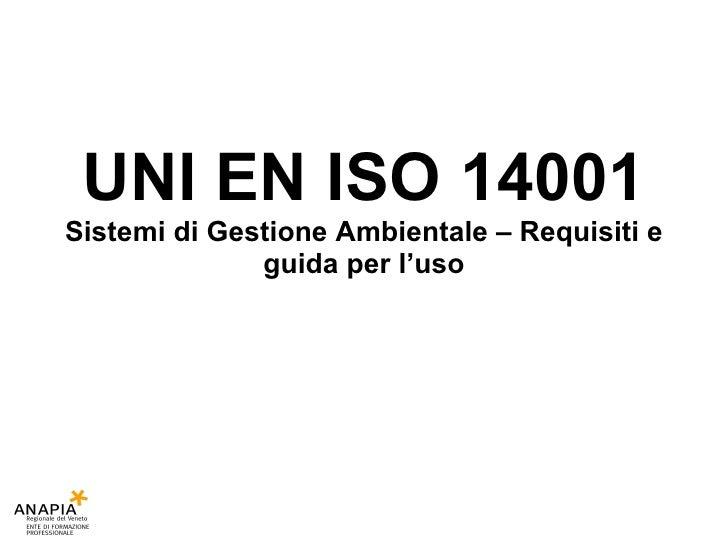 Corso resp   18 lezione - iso14001