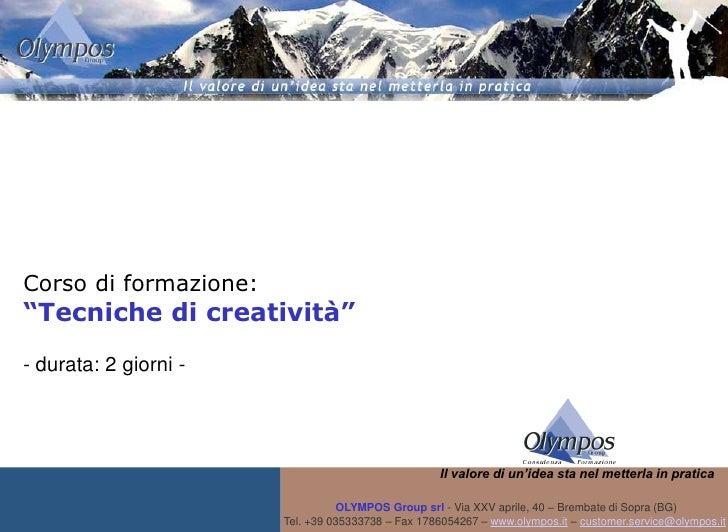 Corso tecniche di_creatività
