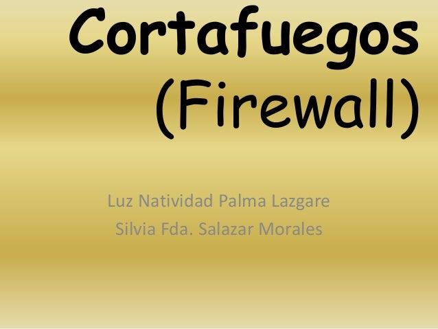 Cortafuegos   (Firewall) Luz Natividad Palma Lazgare  Silvia Fda. Salazar Morales