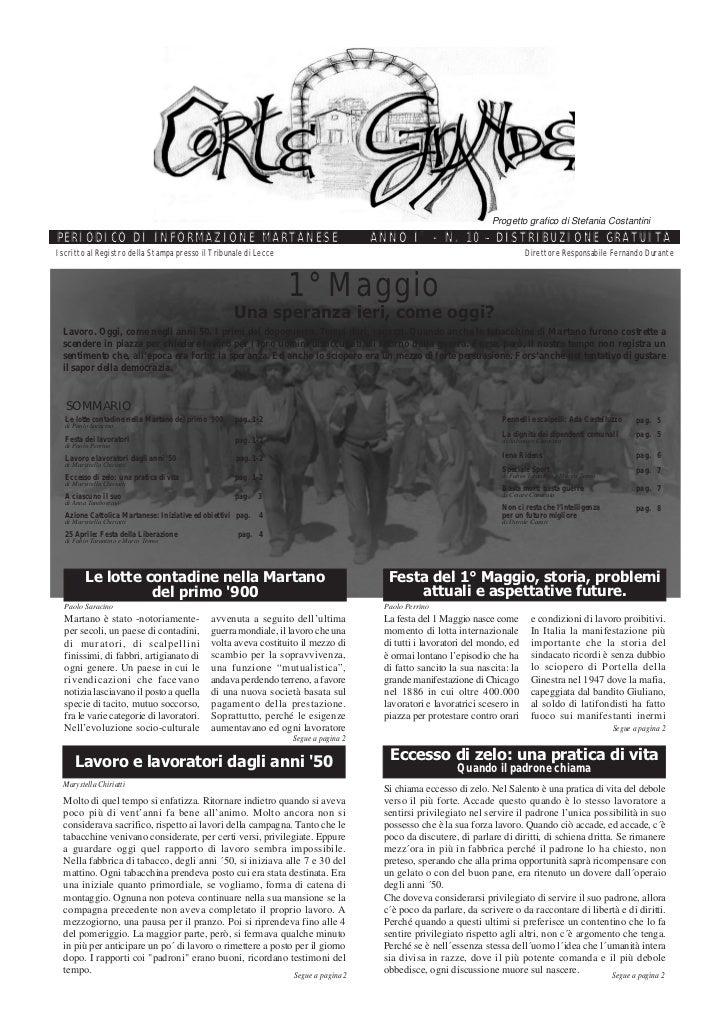 Corte Grande N° 10 - Maggio 2006