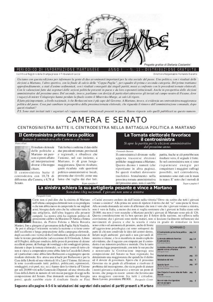 Corte Grande N° 11 - Maggio 2006 - Special Elezioni