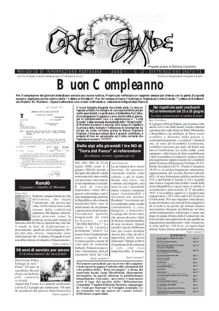 Corte Grande N° 12 - Giugno 2006