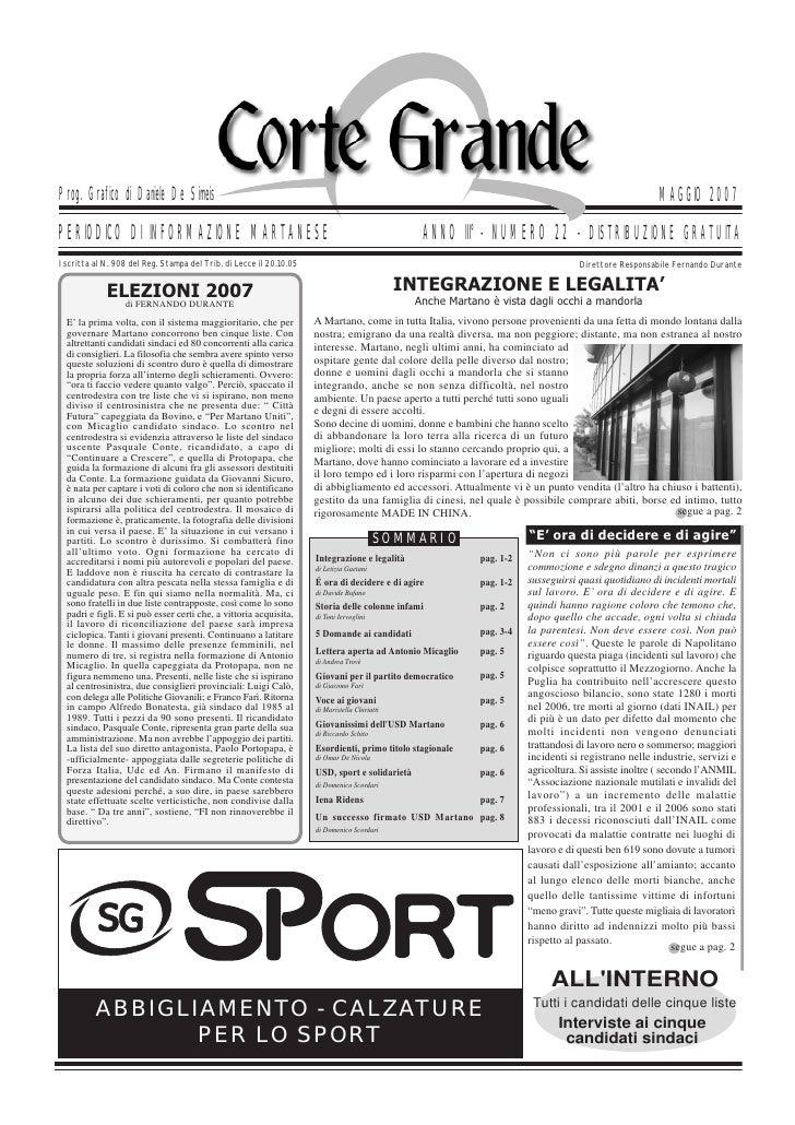 Corte Grande N° 22 - Maggio 2007