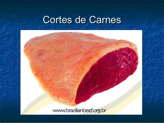 Cortes de carnes - Explicativo