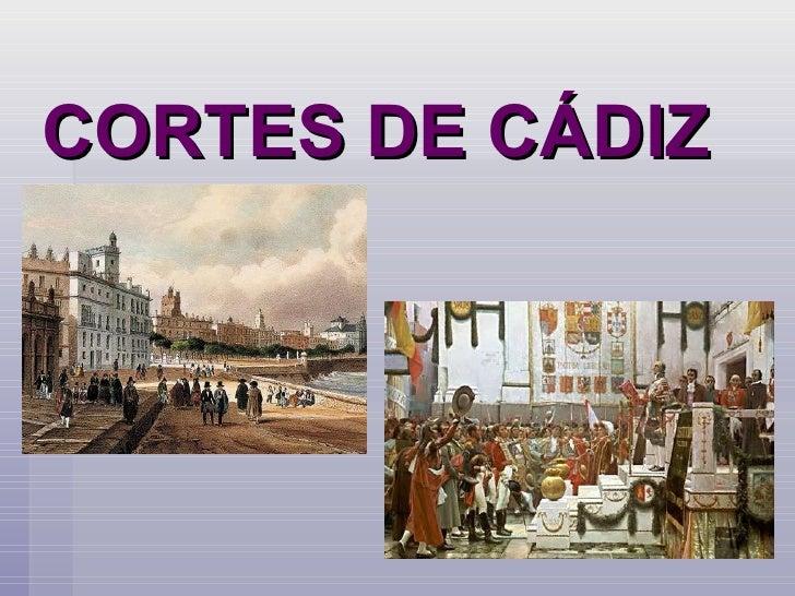 CORTES DE CÁDIZ