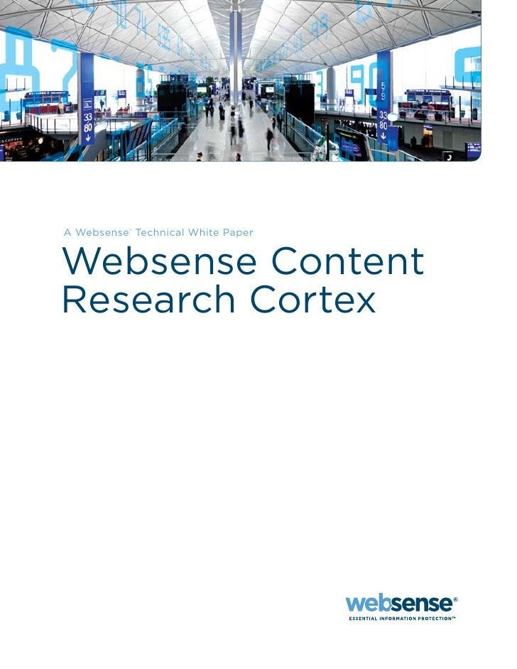 Websense Cortex Whitepaper