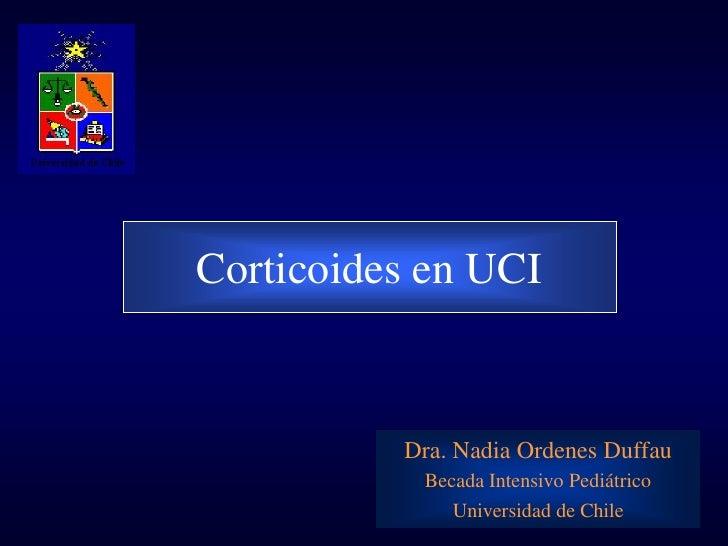 Corticoides en uci