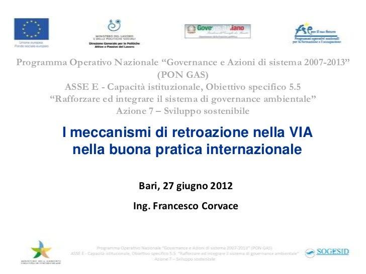 """Programma Operativo Nazionale """"Governance e Azioni di sistema 2007-2013""""                                (PON GAS)         ..."""