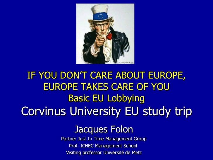 basic eu lobbying - Corvinus University