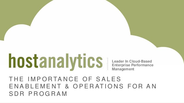 The Importance of Sales Enablement & Operations for an SDR Program