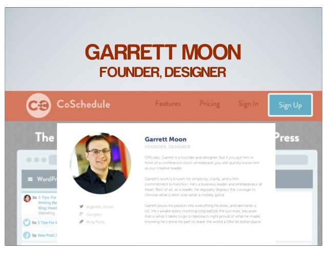 GARRETT MOON FOUNDER, DESIGNER